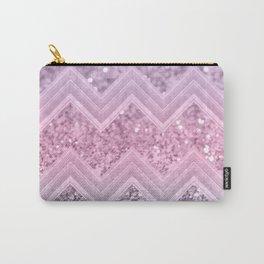 Unicorn Glitter Chevron #1 #pastel #shiny #decor #art #society6 Carry-All Pouch