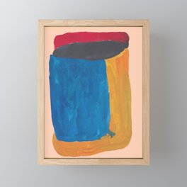 32   190330 Abstract Shapes Painting Framed Mini Art Print
