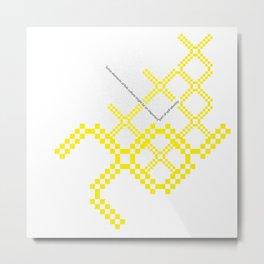 yellow folk Metal Print