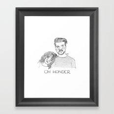 Oh Wonder Framed Art Print