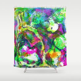 The Screaming Psychedelic Shower Curtain