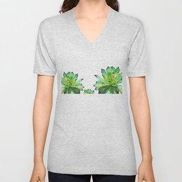 green succulent 2 Unisex V-Neck