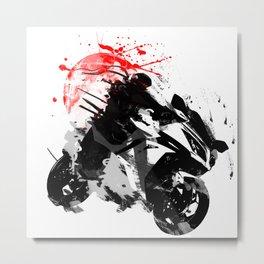 Ninja Motorcycle Metal Print