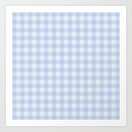 Gingham Pattern - Blue Art Print