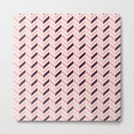 Chevron - Rose Metal Print