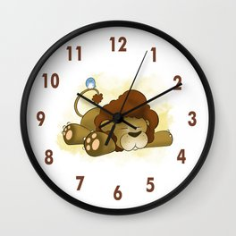 Adorable Animals: Lion! Wall Clock