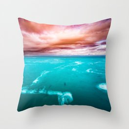 Fire and Water Sea Throw Pillow