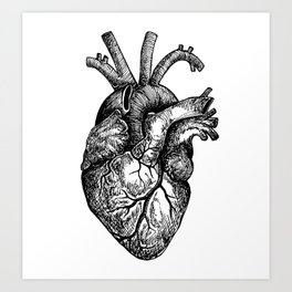 Inky Breaky Heart Art Print