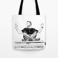 liam payne Tote Bags featuring liam by otp-hedgefrog