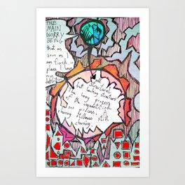 Churning Stillness Still Churning (unquantified non process) Art Print