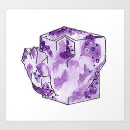 Flourite Cube Portrait Art Print