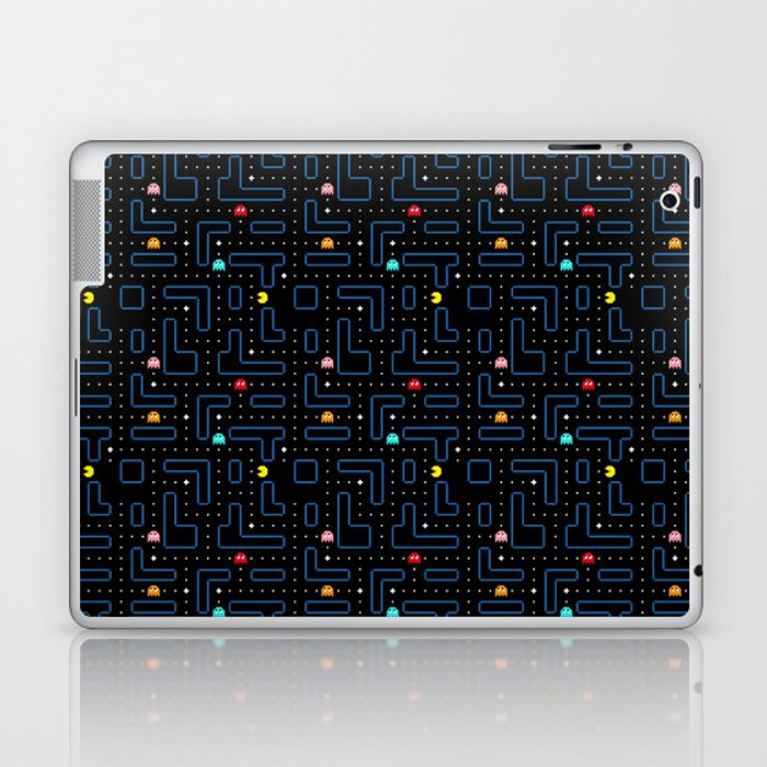 Pac-Man Retro Arcade Video Game Pattern Design Laptop & iPad Skin