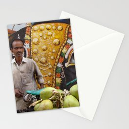 Coconut seller - streets of India Stationery Cards