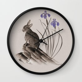 Spring Hare Wall Clock