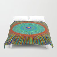 kaleidoscope Duvet Covers featuring Kaleidoscope  by BrucestanfieldartistPatterns