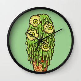 Mutant Ice Cream (slime) Wall Clock