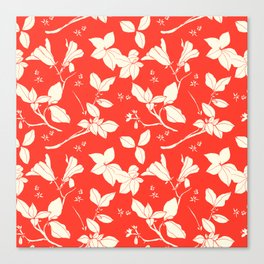 Drawings from Stonecrop Garden, Pattern in Red Canvas Print