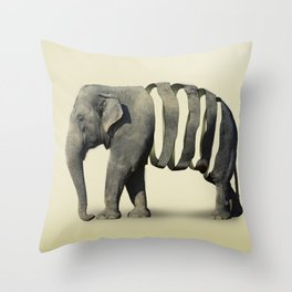 Ribbon Elephant Throw Pillow