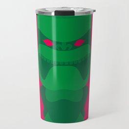 Green Tiki Travel Mug