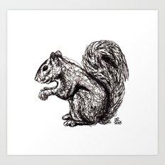 Woodland Creatures: Squirrel Art Print