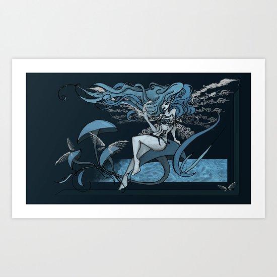 Faery in Blue Art Print