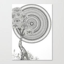 Sunrise Mandala with Tree Canvas Print