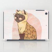 nan lawson iPad Cases featuring Hip Cat by Nan Lawson