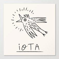 The iOTA Bird Canvas Print