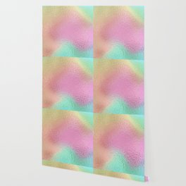 Simply Metallic in Iridescent Rainbow Wallpaper