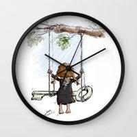 palestine Wall Clocks featuring Palestine by Eyad Shtaiwe
