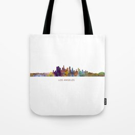 Los Angeles City Skyline HQ v1 Tote Bag
