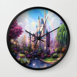 FAIRY FANTASY CASTLE Wall Clock