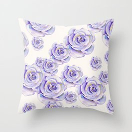 Puple Rose Painting Throw Pillow