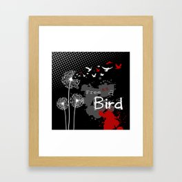 Trash Polka Dandelions Blow Into Birds Framed Art Print