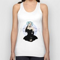 pinup Tank Tops featuring Goth Pinup by CatAstrophe