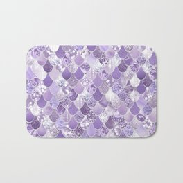 Mermaid Art, Cute Purple, Fun Bathroom Art Bath Mat