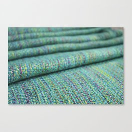 Advancing twill, hand dyed tencel Canvas Print