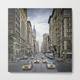 NEW YORK CITY 5th Avenue Street Scene Metal Print