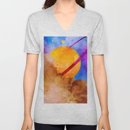 Saturn Crashed Unisex V-Neck