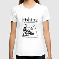 fishing T-shirts featuring Fishing by AmazingVision