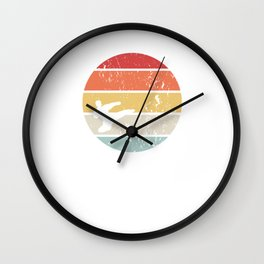 This retro karate design is the perfect gift for martial artists who loves Taekwondo or Kung Fu Wall Clock