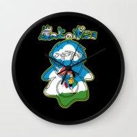 ponyo Wall Clocks featuring Ponyo by CarloJ1956