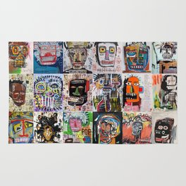 Basquiat Faces Montage Rug
