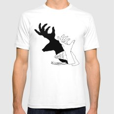 Hand-shadows Mens Fitted Tee White SMALL