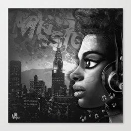 Music Girl NY Canvas Print