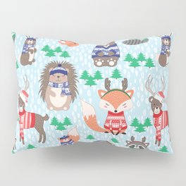 Christmas woodland Pillow Sham