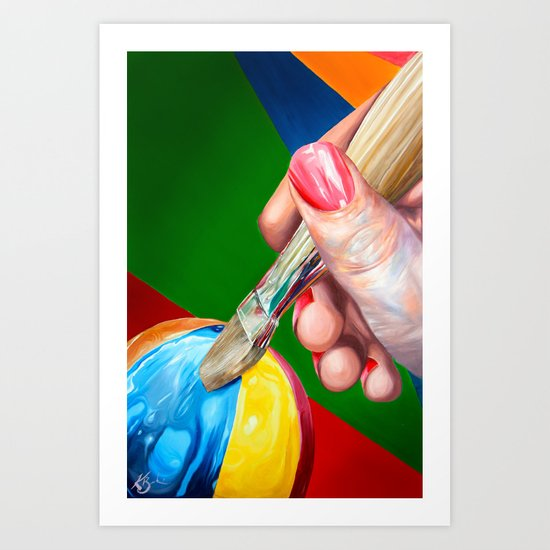 Creative Touch Art Print