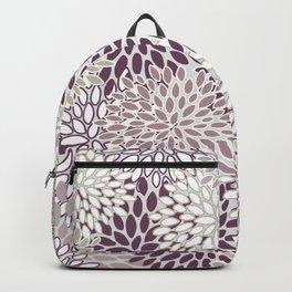 Floral Blooms in Purple Backpack