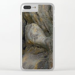 Ocean Weathered Coastal Rock Formation Clear iPhone Case