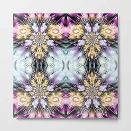 3d flower pattern Metal Print
